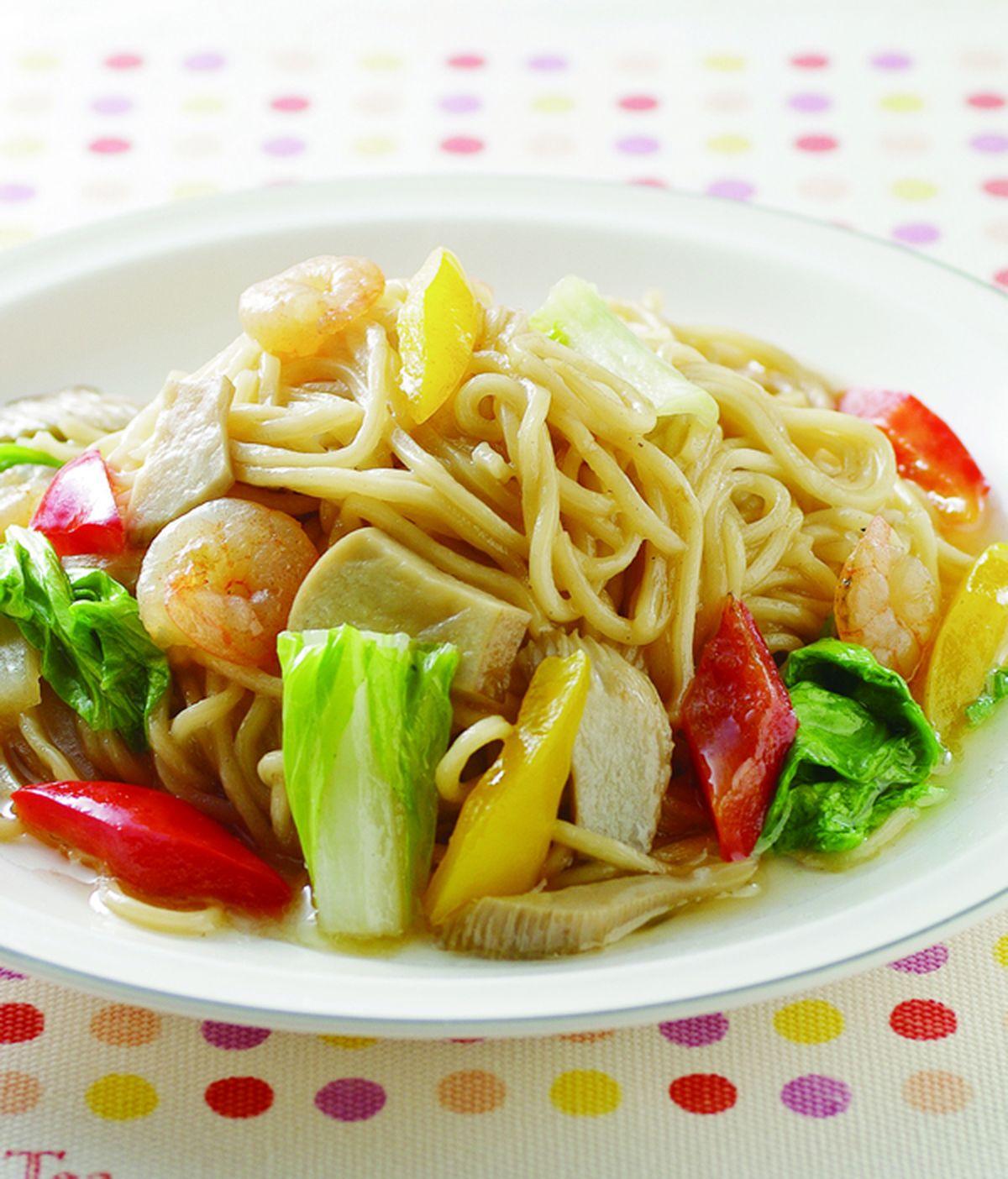 食譜:日式蝦仁炒麵
