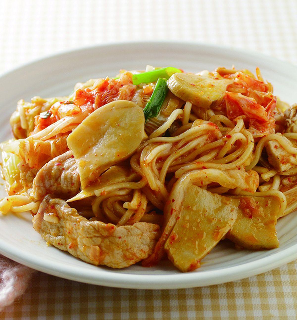 食譜:泡菜炒麵(2)