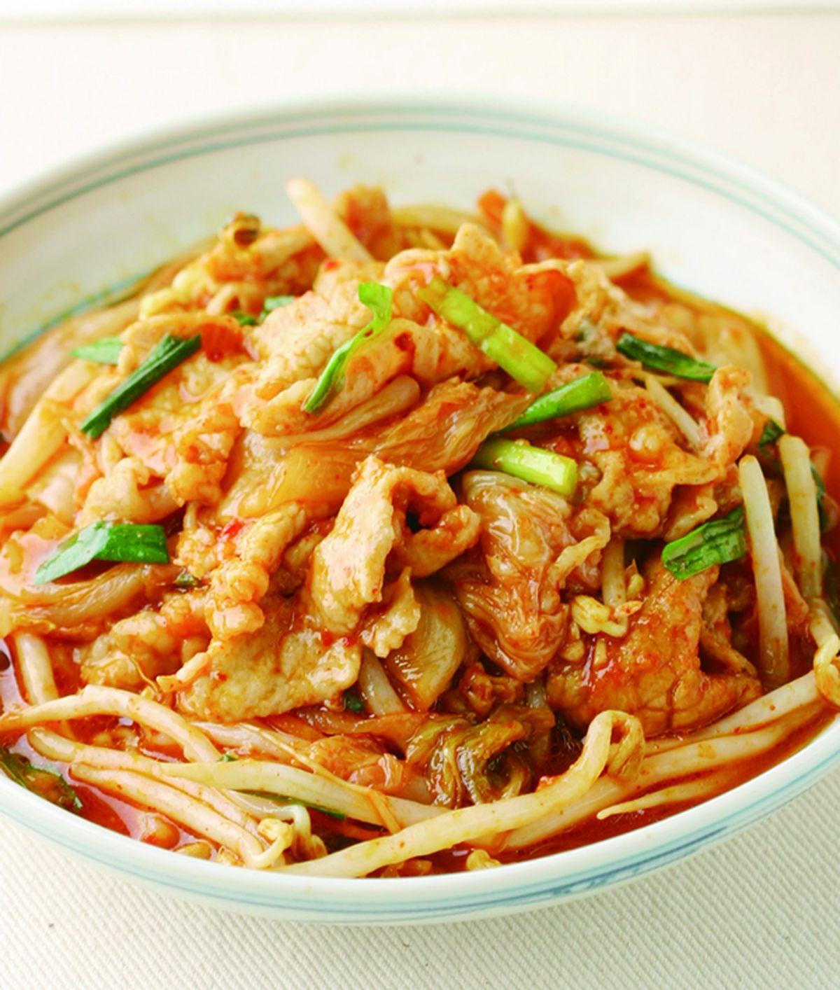 食譜:泡菜豆芽炒肉片