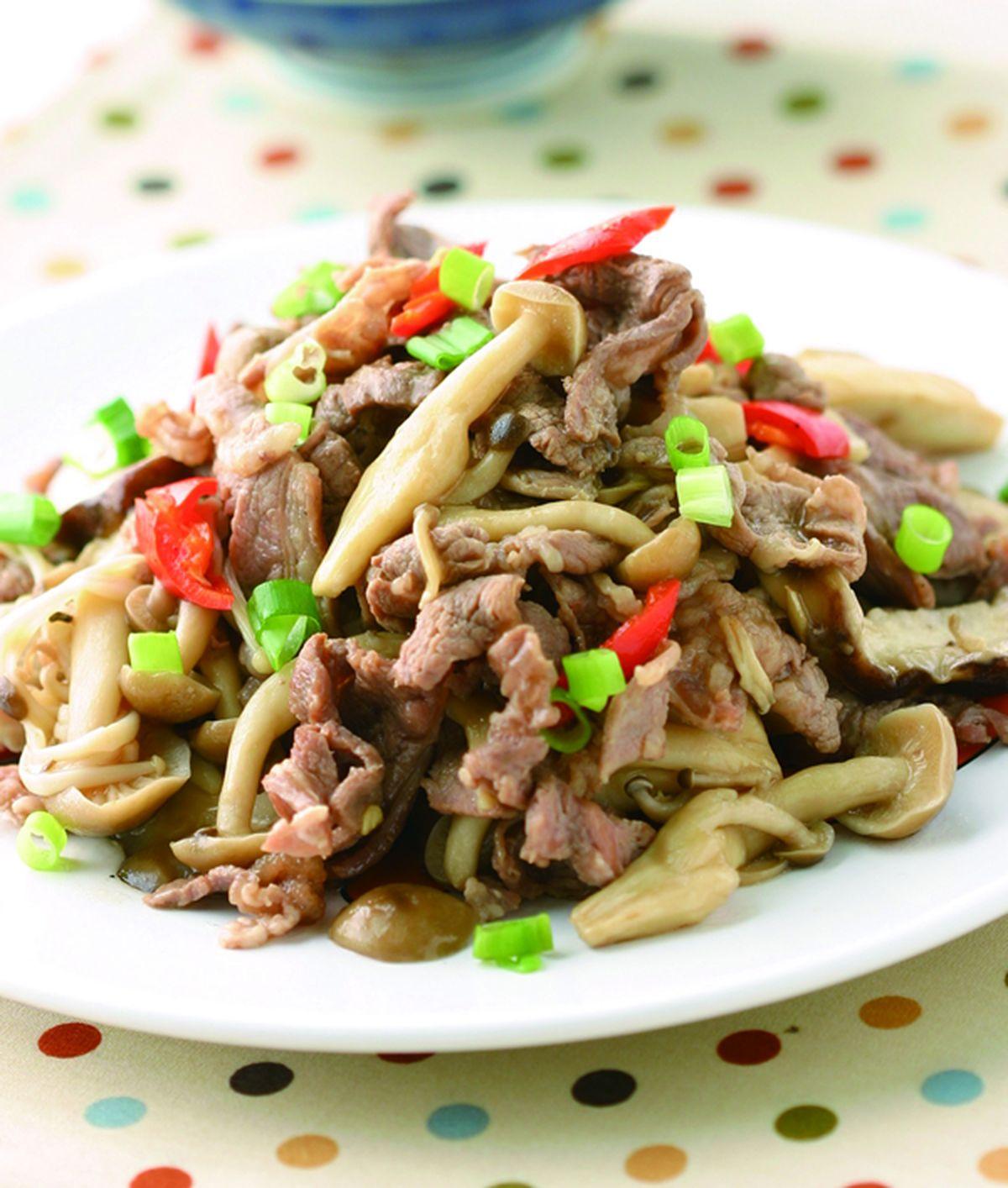 食譜:養生菇羊肉片