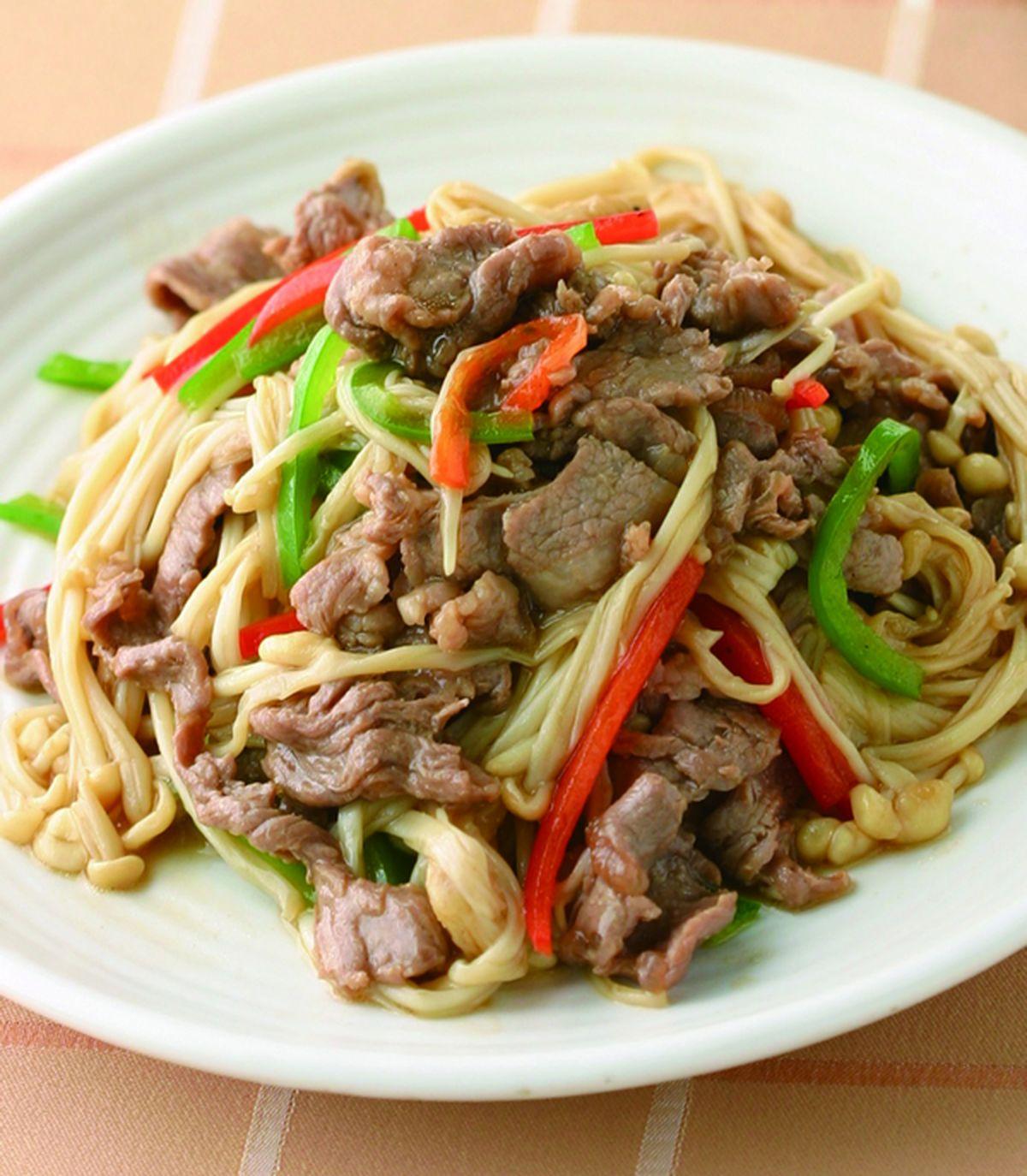 食譜:金菇炒羊肉
