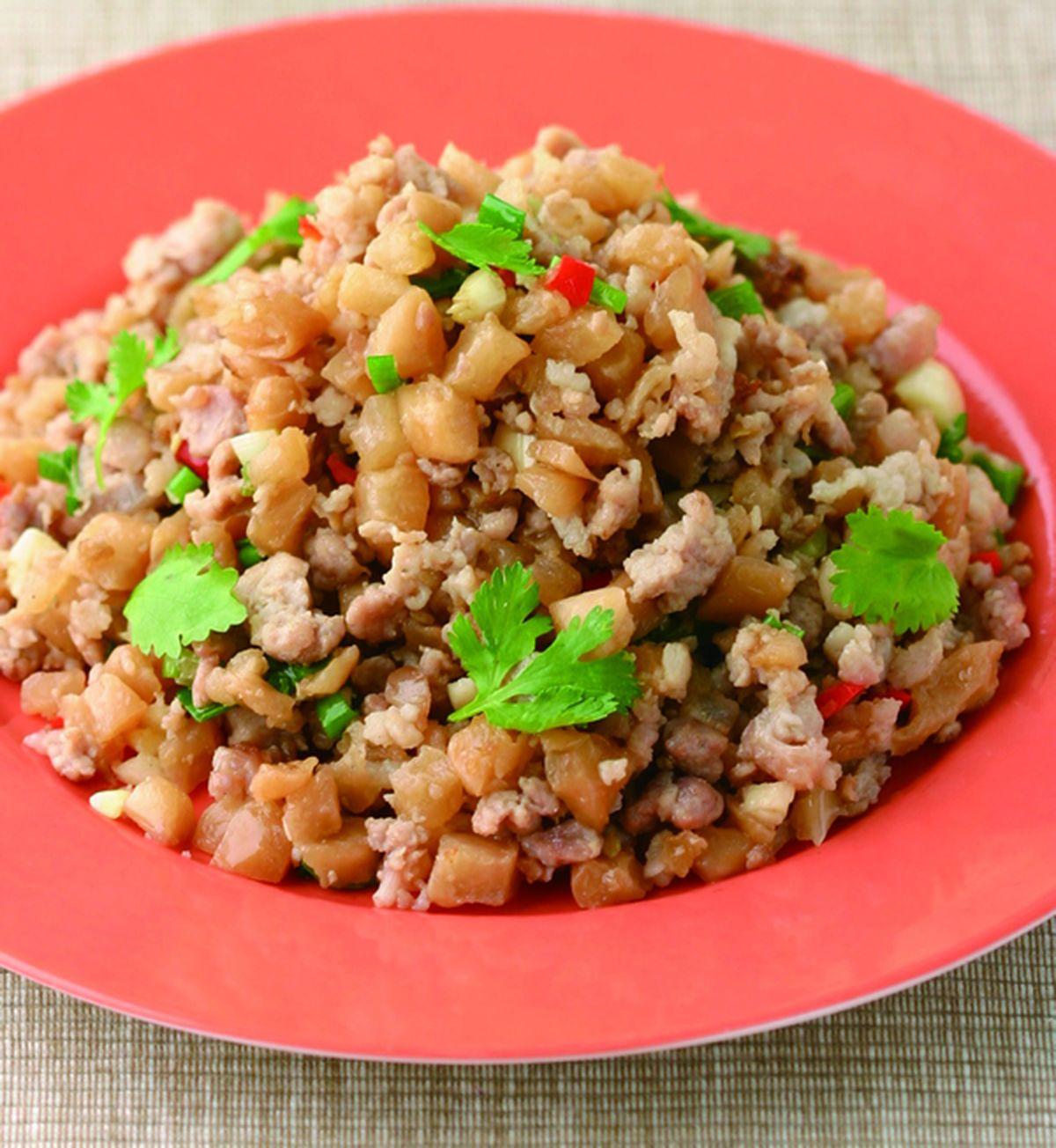 食譜:菜脯炒肉末(1)