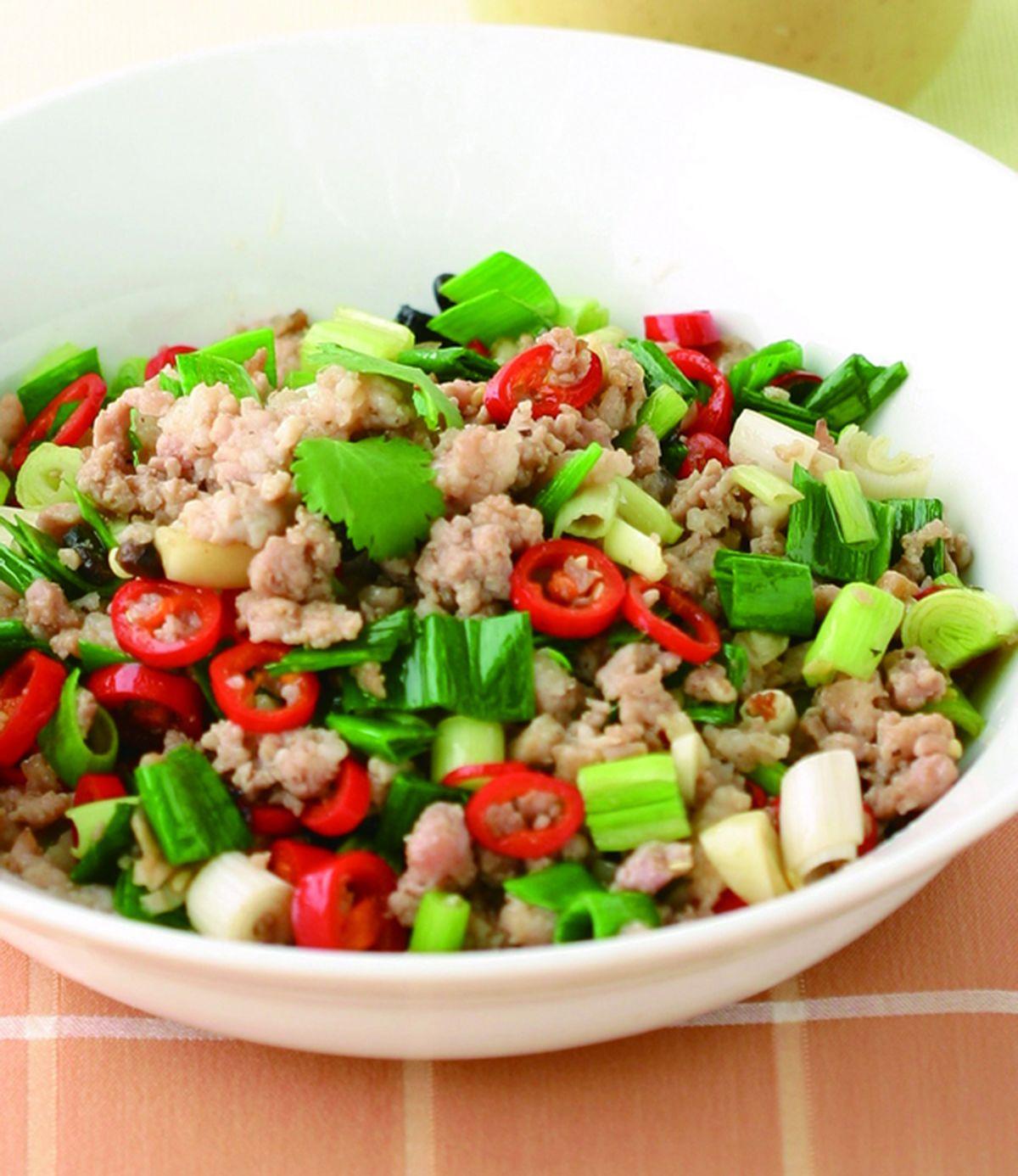 食譜:蒜苗炒牛絞肉