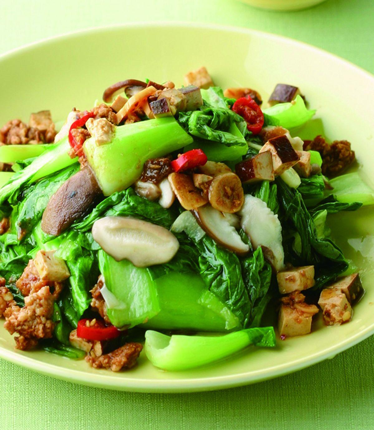 食譜:炸醬炒青江菜