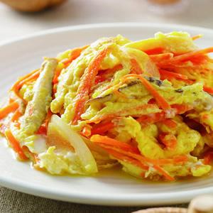 紅蘿蔔絲炒蛋(1)