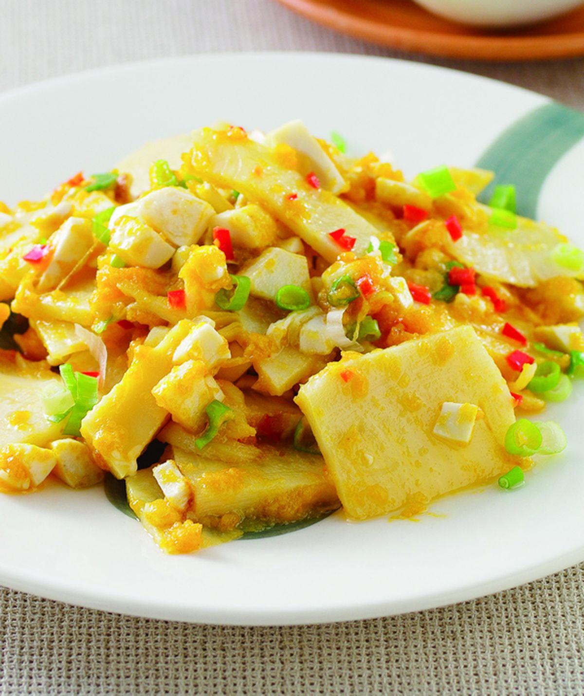 食譜:黃金蛋炒筍片