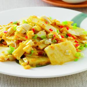 黃金蛋炒筍片