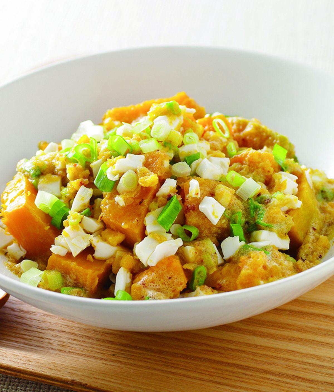 食譜:鹹蛋炒南瓜
