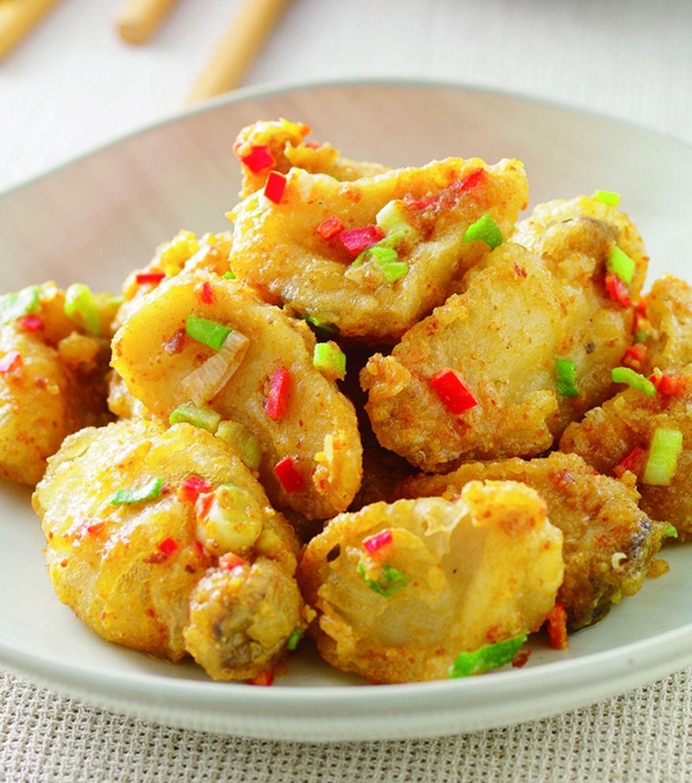 食譜:金沙杏鮑菇(1)