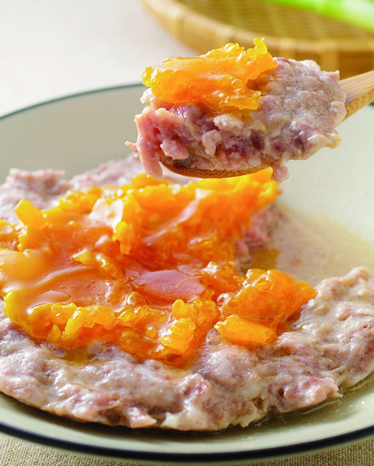 食譜:鹹蛋蒸肉餅(3)