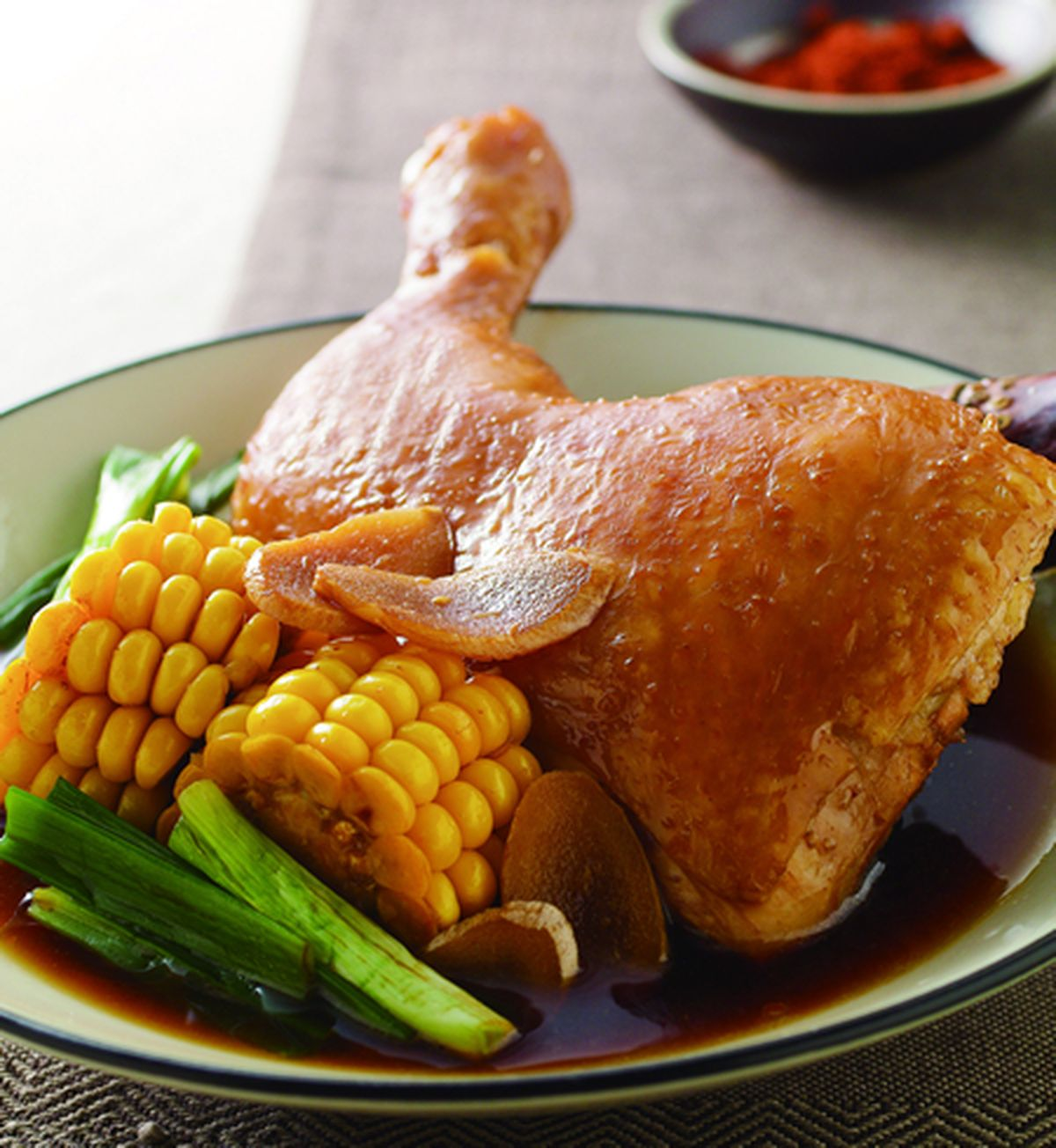 食譜:甘蔗滷雞腿