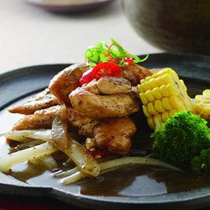 黑胡椒鐵板雞柳