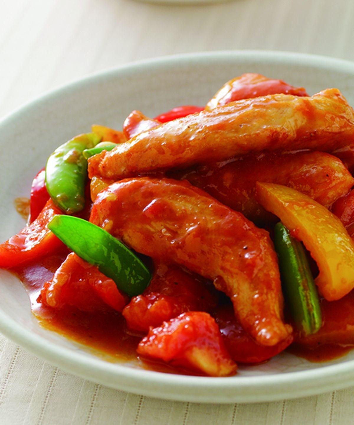 食譜:蕃茄炒雞柳