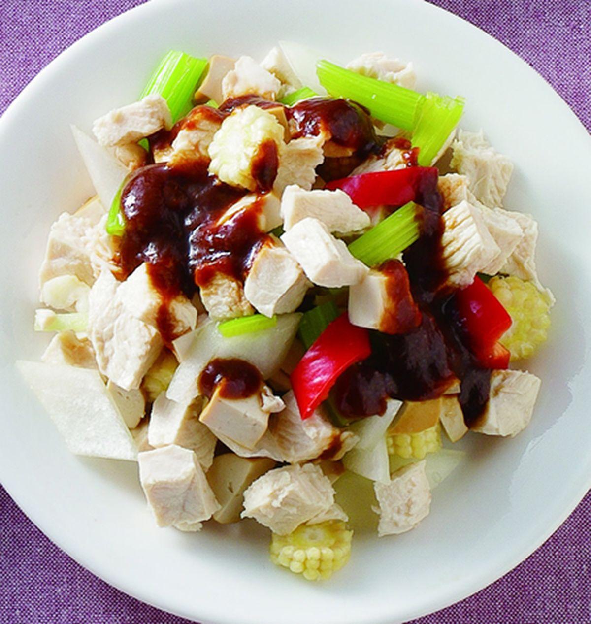 食譜:雞米粒拌醬