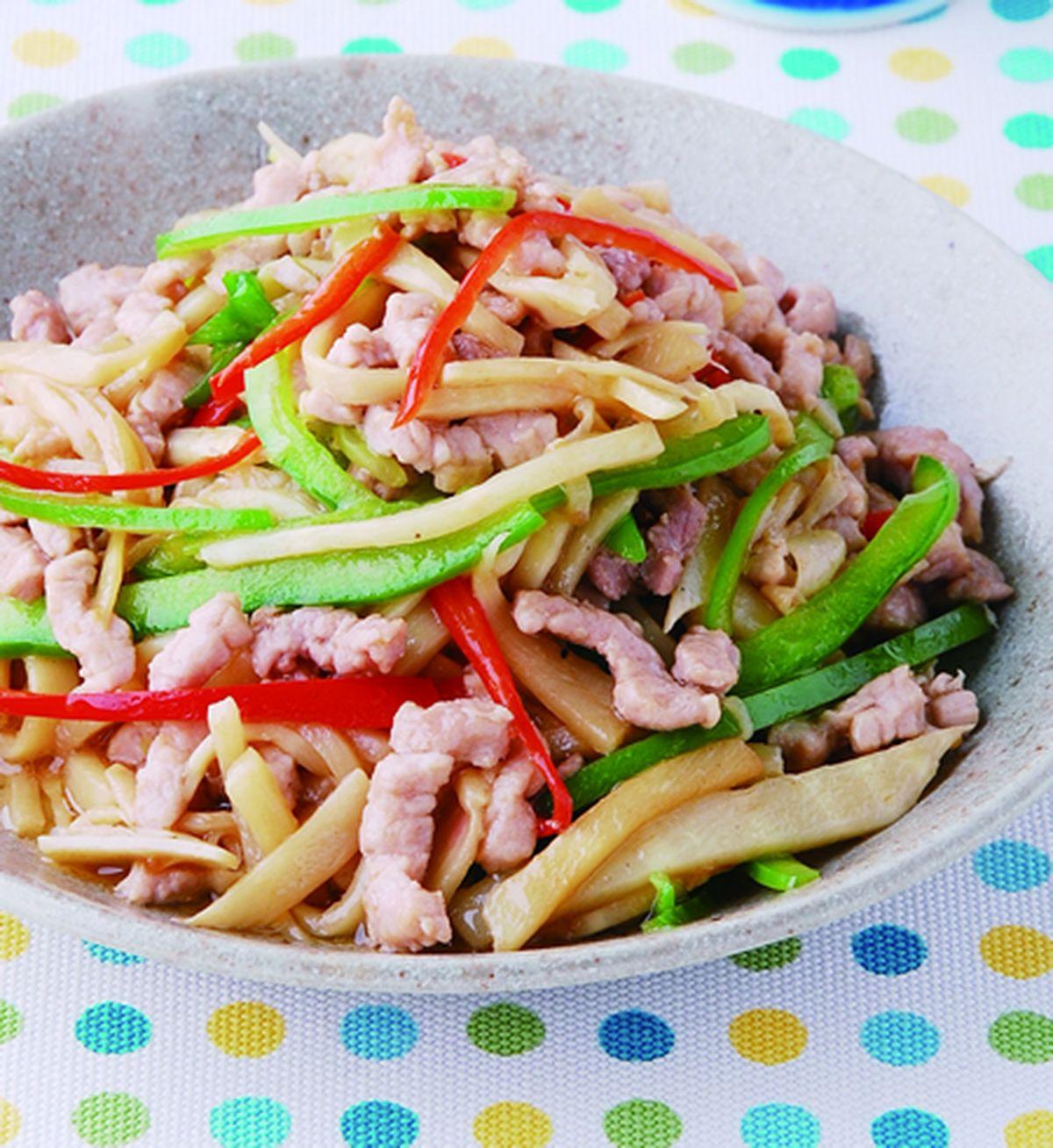 食譜:竹筍炒肉絲(4)