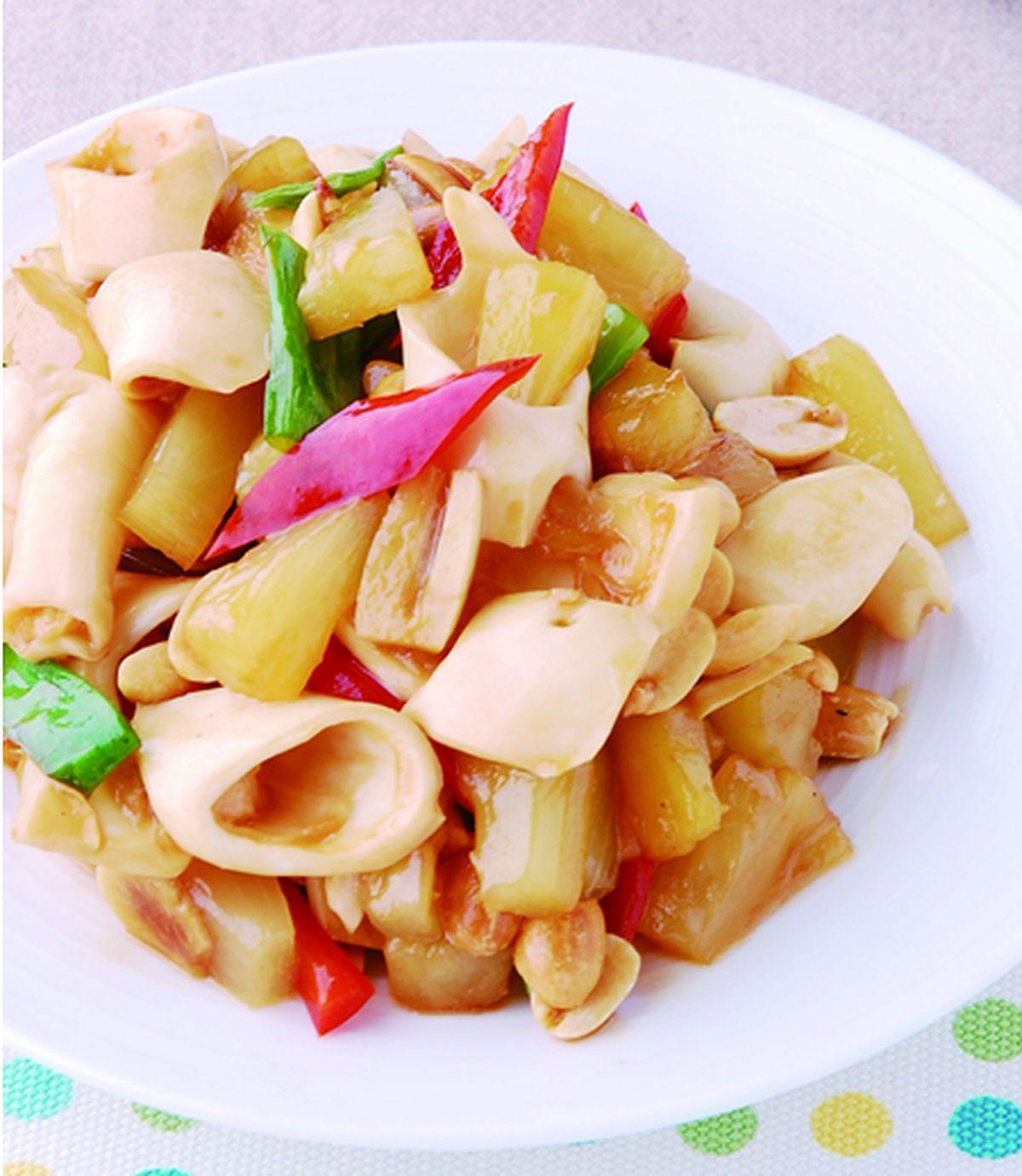 食譜:鳳梨炒脆管