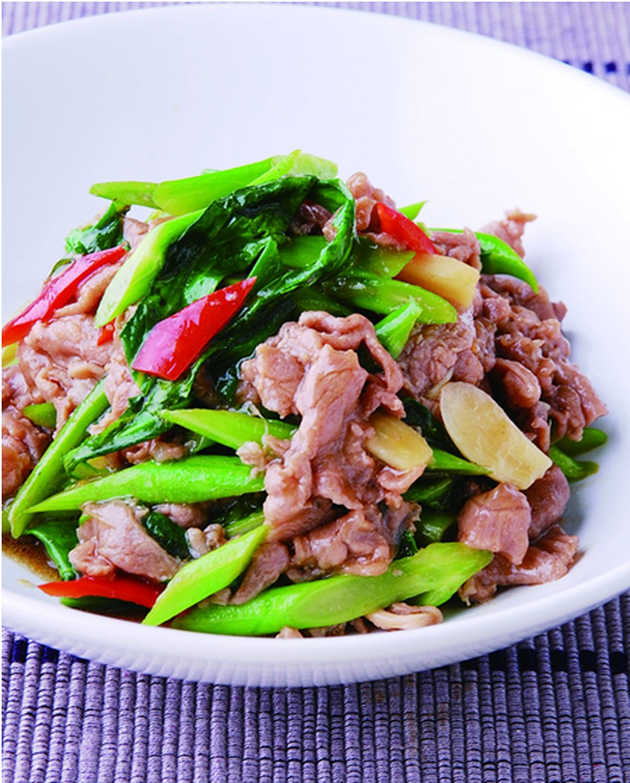 食譜:生炒芥蘭羊肉