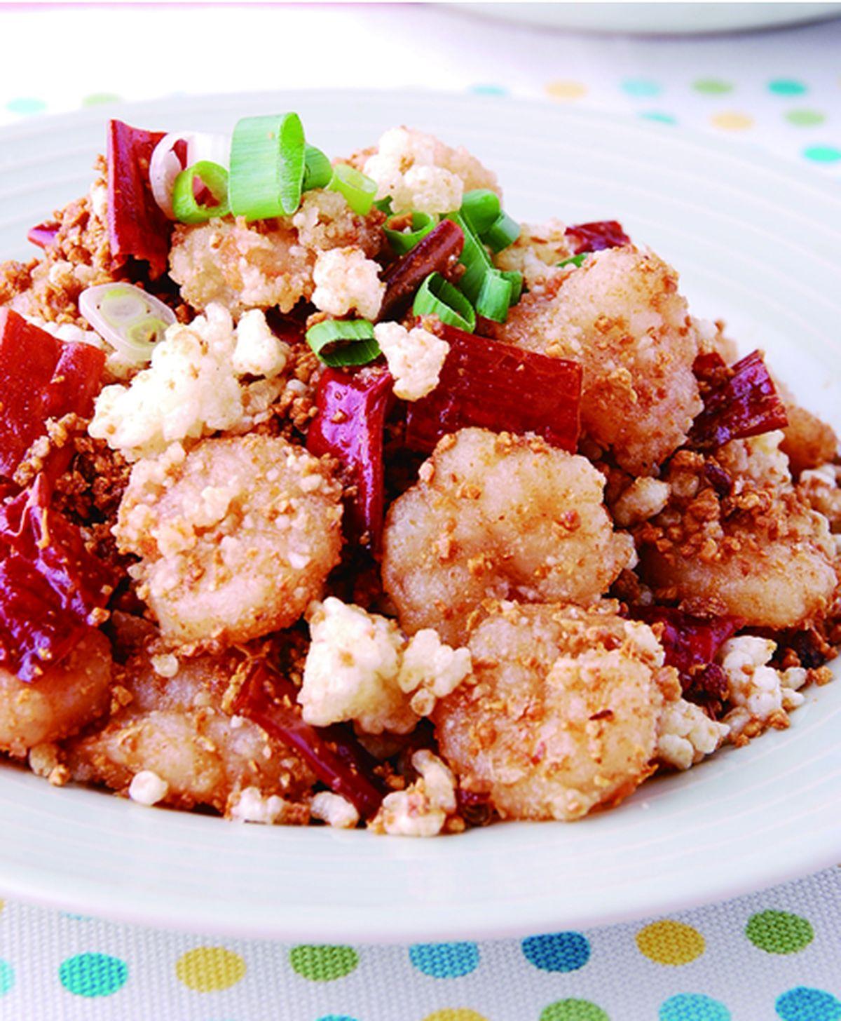 食譜:鍋巴香辣蝦