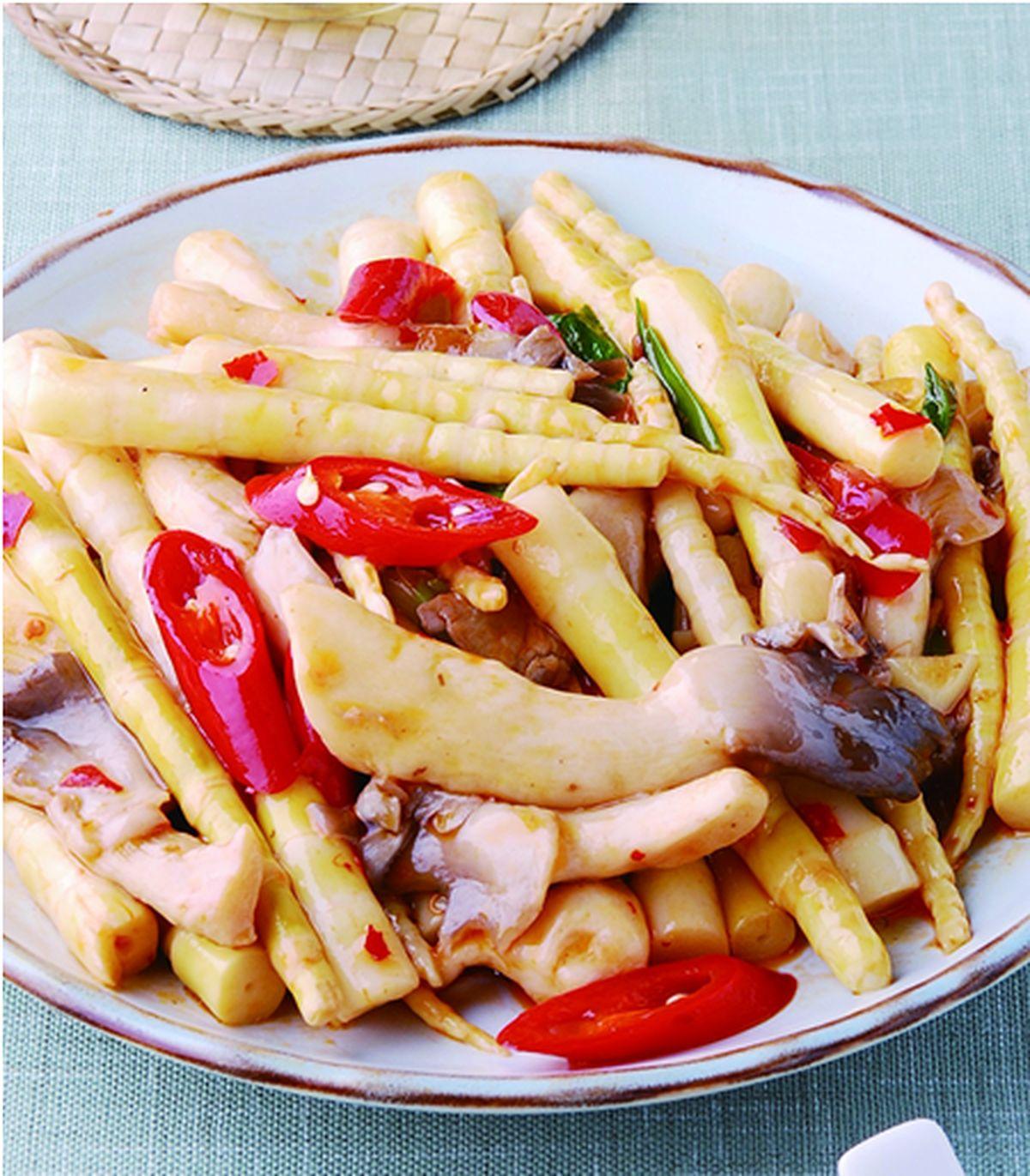 食譜:箭筍炒鮮菇