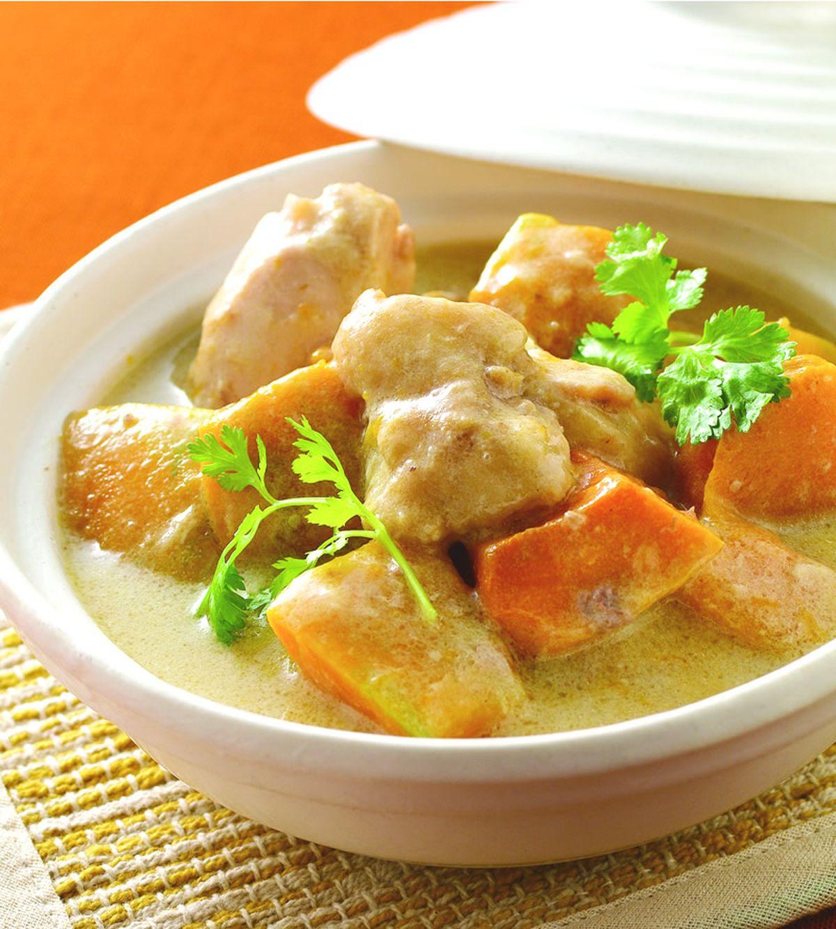 食譜:豆漿南瓜雞肉煲