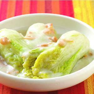 豆漿燴菜心