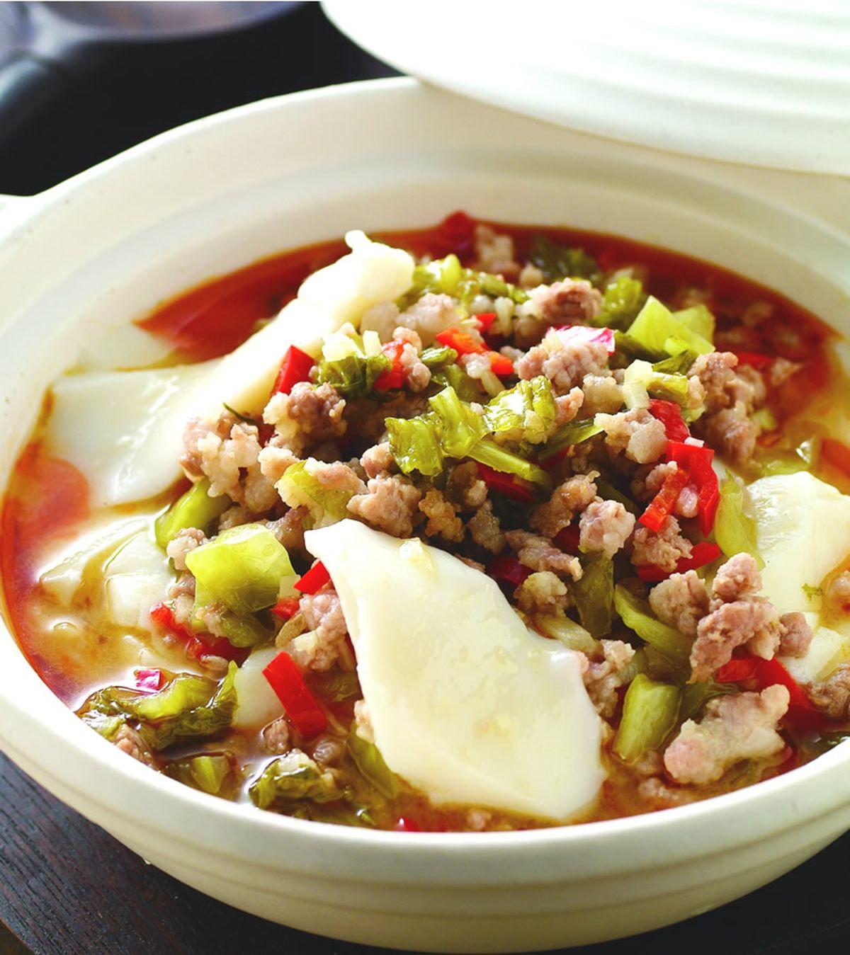 食譜:酸菜肉末豆腐腦