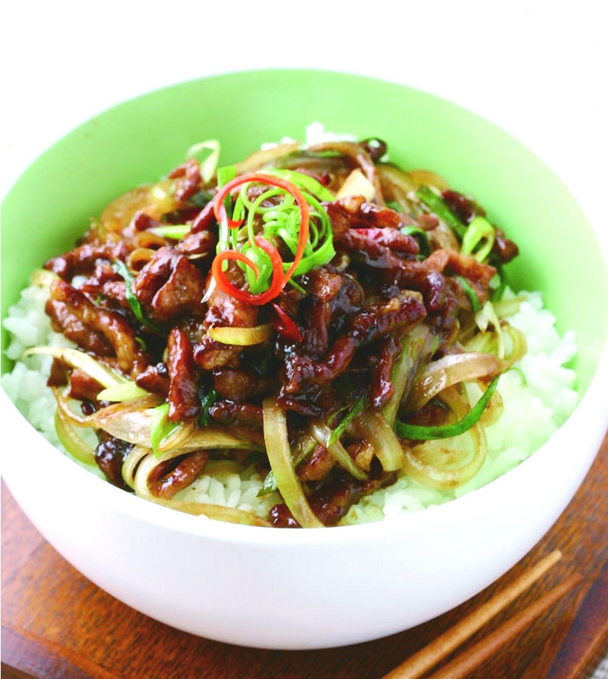 食譜:京醬肉絲飯(1)