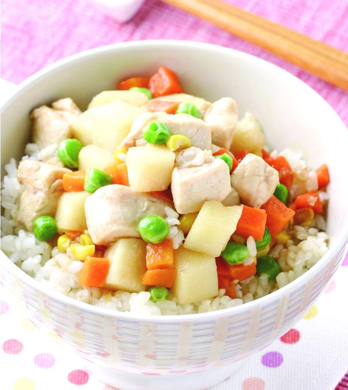 食譜:馬鈴薯玉米雞燴飯