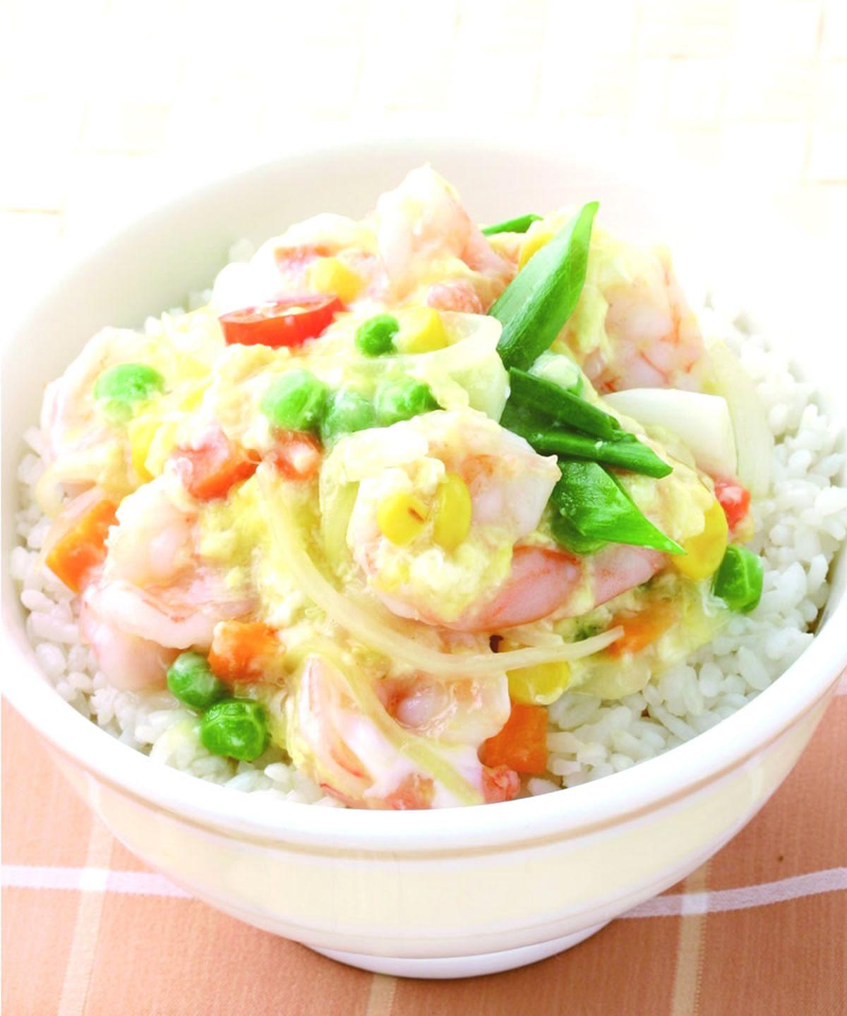 食譜:滑蛋蝦仁燴飯(4)