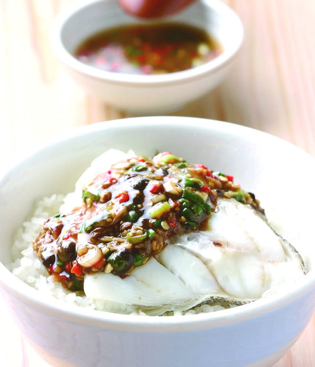 食譜:剁椒蒸鱈魚飯