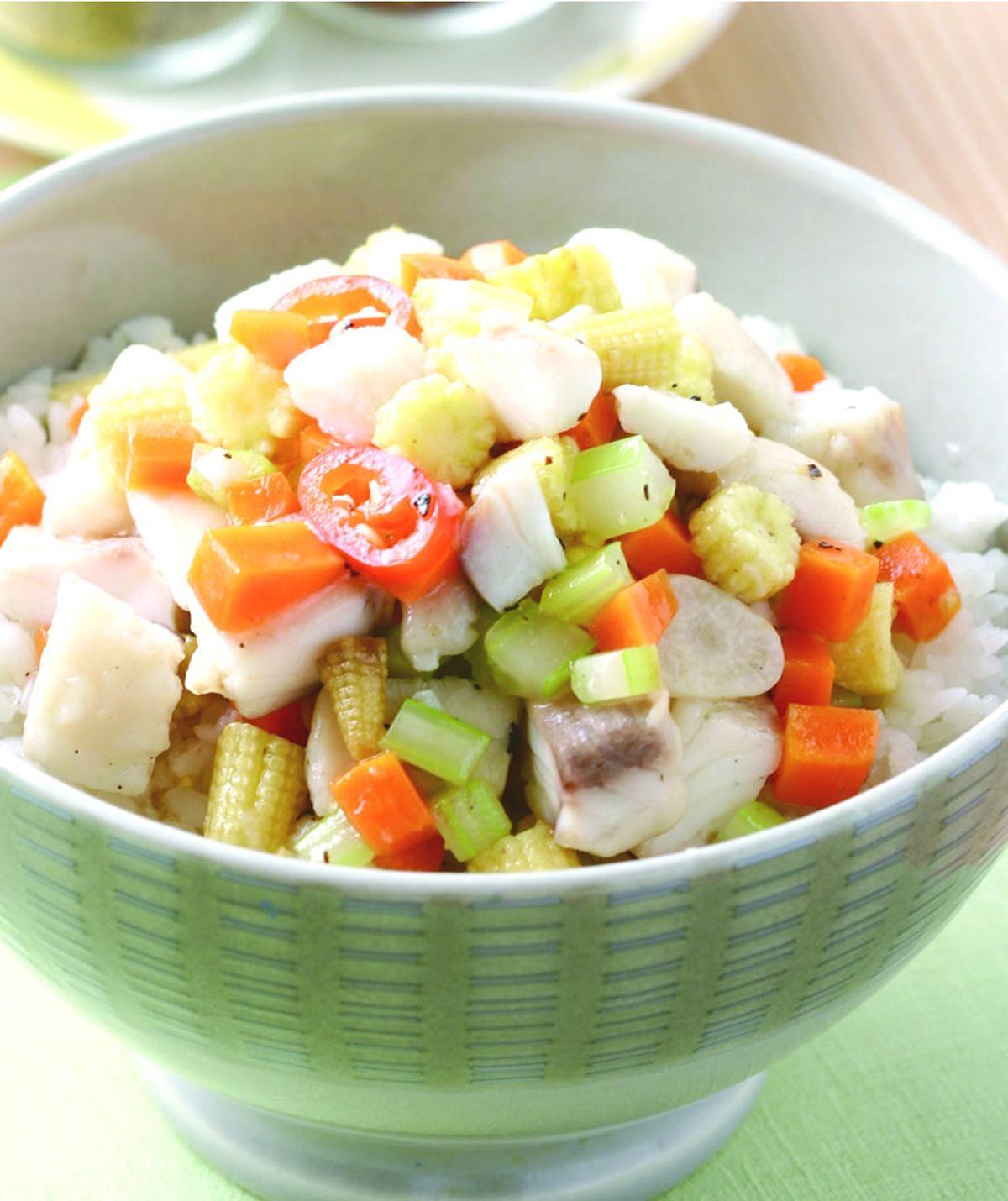 食譜:蒜香魚丁燴飯