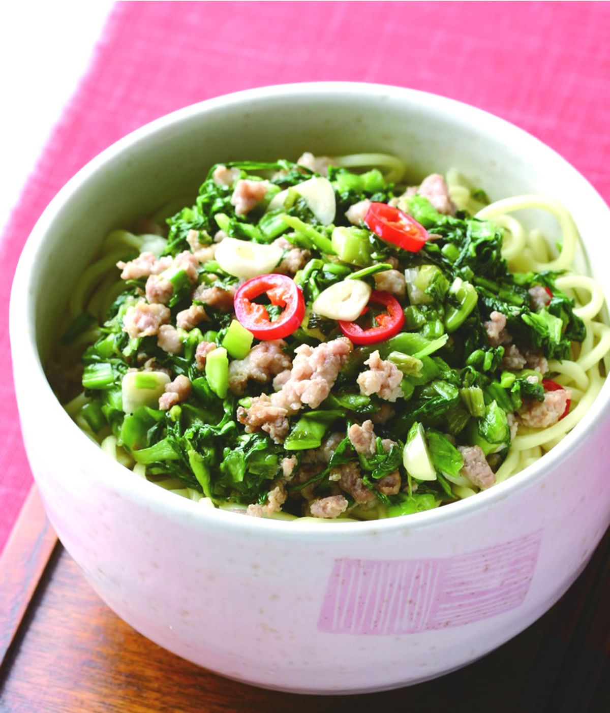 食譜:肉末雪裡紅拌麵