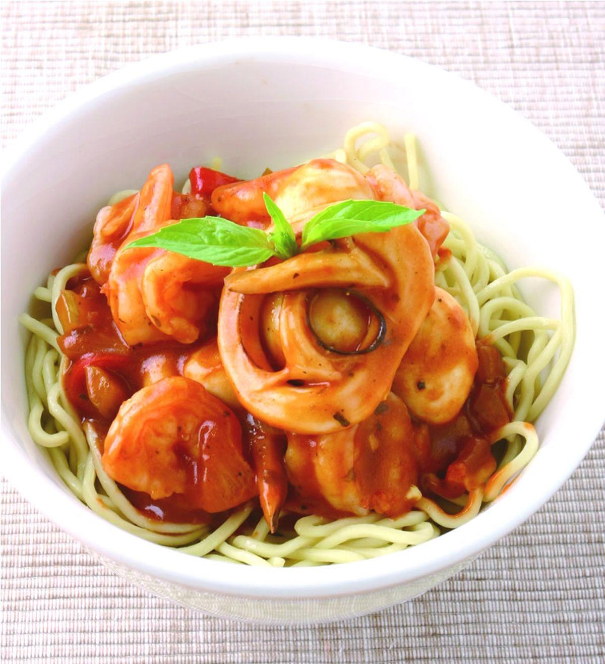 食譜:肉醬海鮮麵