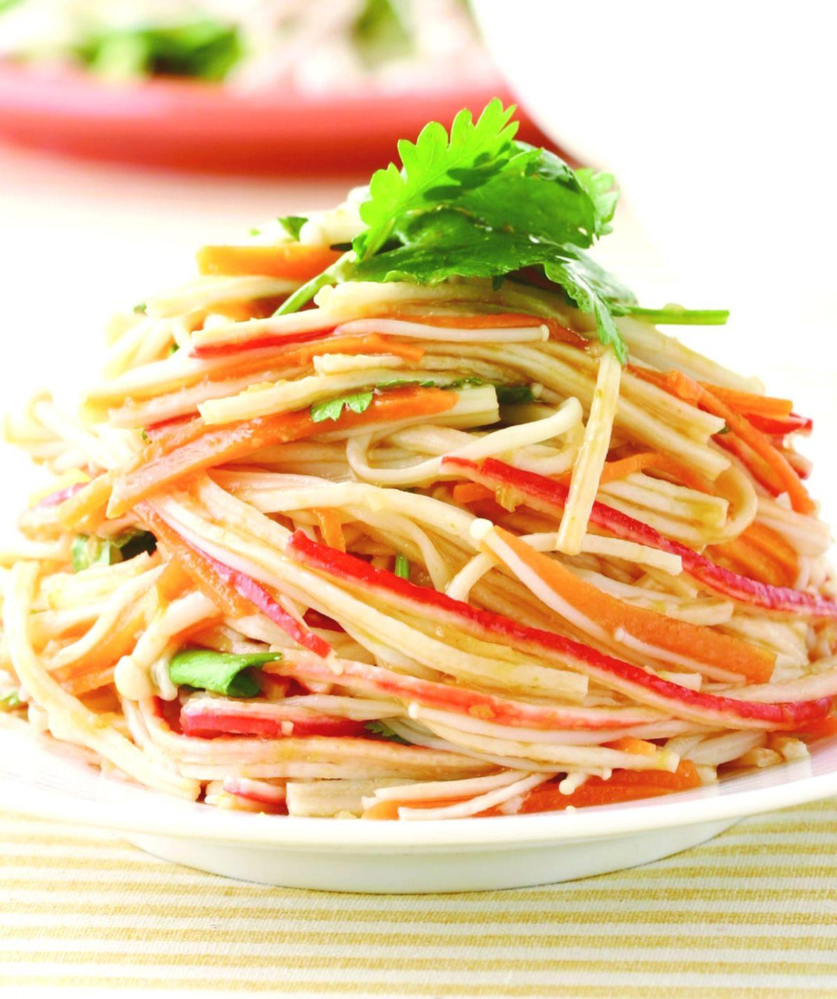 食譜:桔汁拌蟹絲