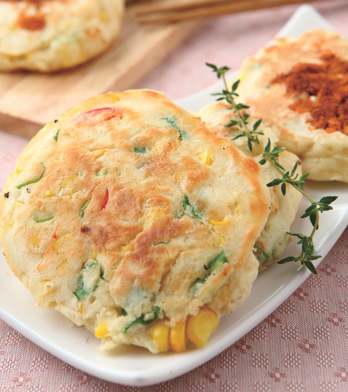 食譜:豆漿玉米肉鬆煎餅