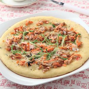 鮭魚鬆芽菜鬆餅