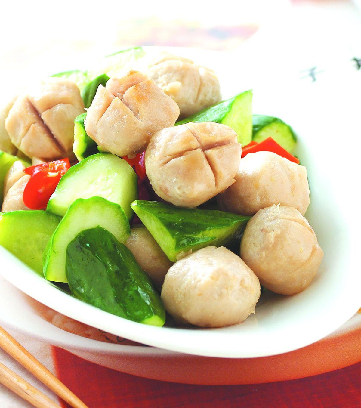 食譜:貢丸炒小黃瓜