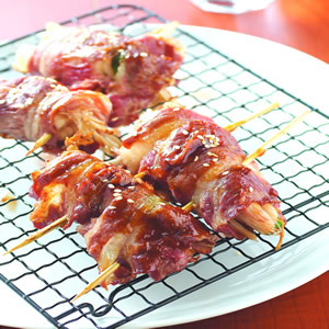 蔥烤金針菇牛肉捲