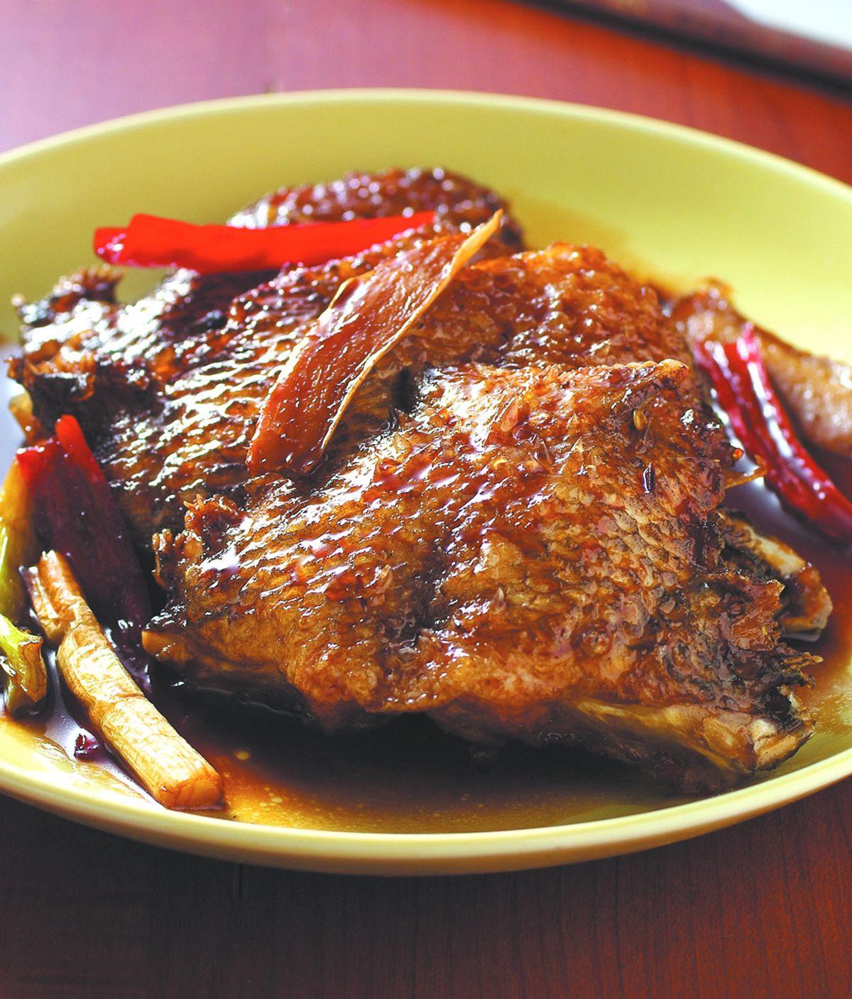 食譜:醬燒魚下巴