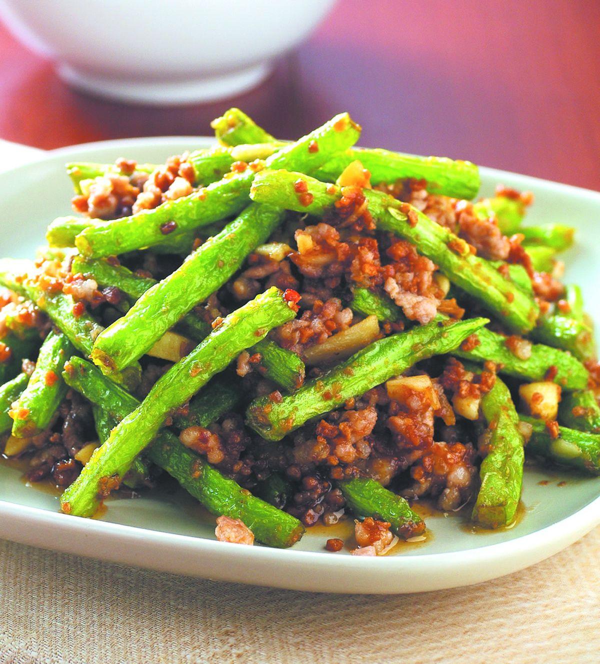 食譜:肉末四季豆