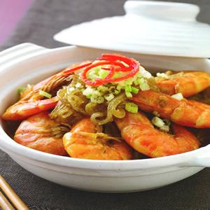 鮮蝦粉絲煲(2)
