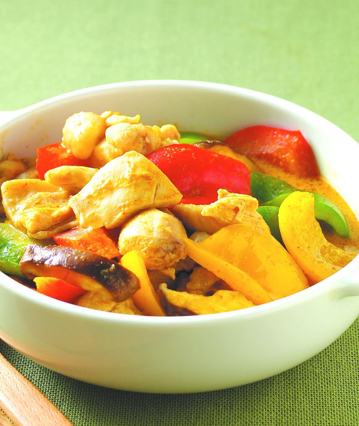食譜:紅咖哩雞