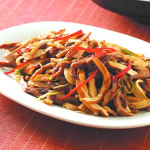 豆乾炒肉絲(2)