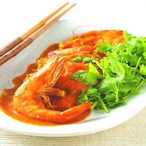 椰汁咖哩蝦(3)