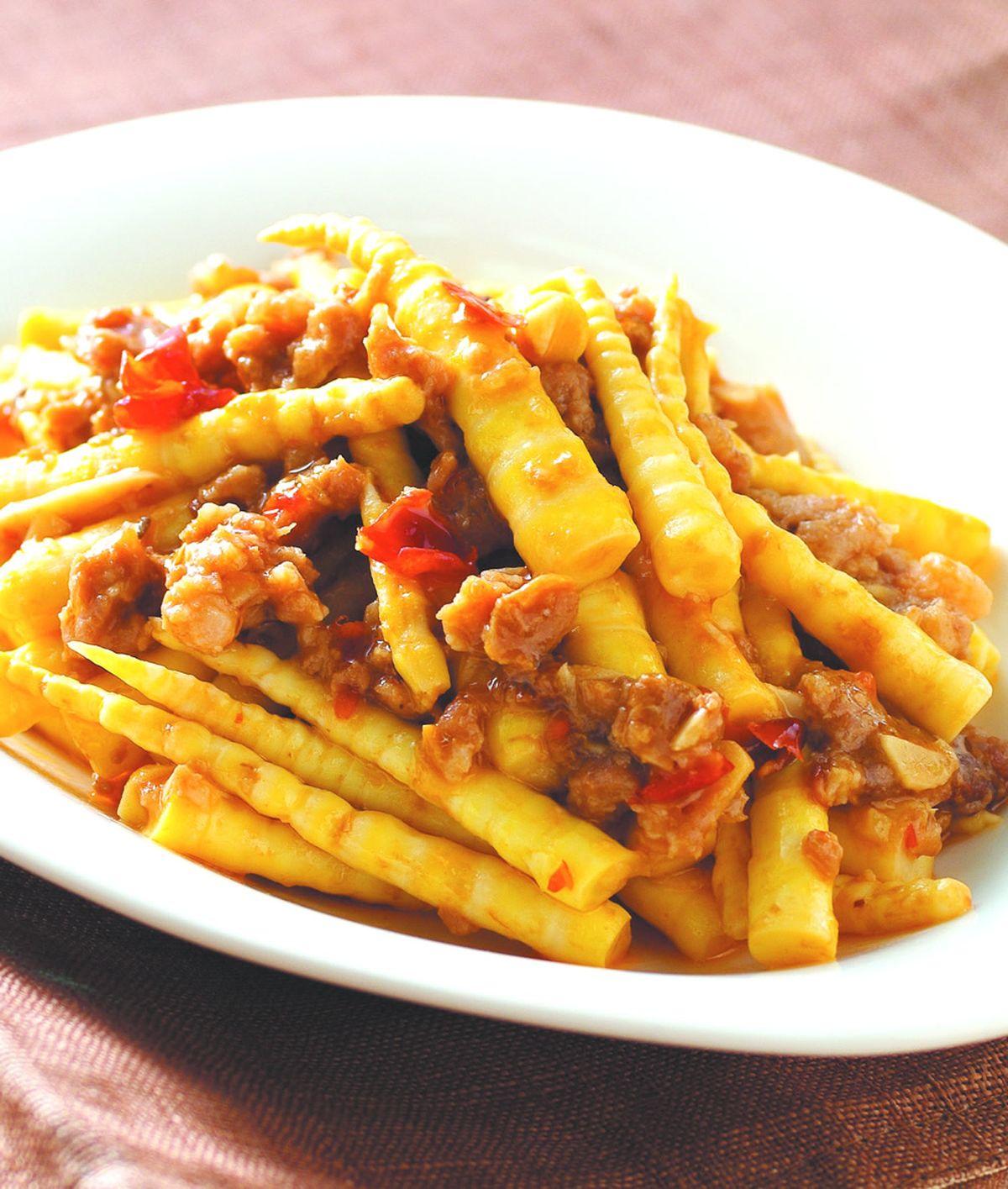 食譜:辣醬炒劍筍