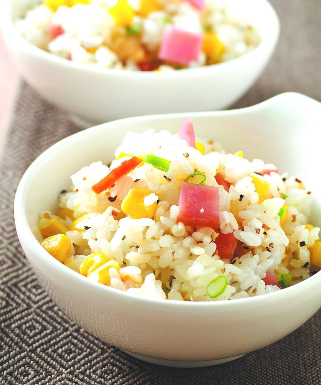 食譜:火腿玉米炒飯(1)