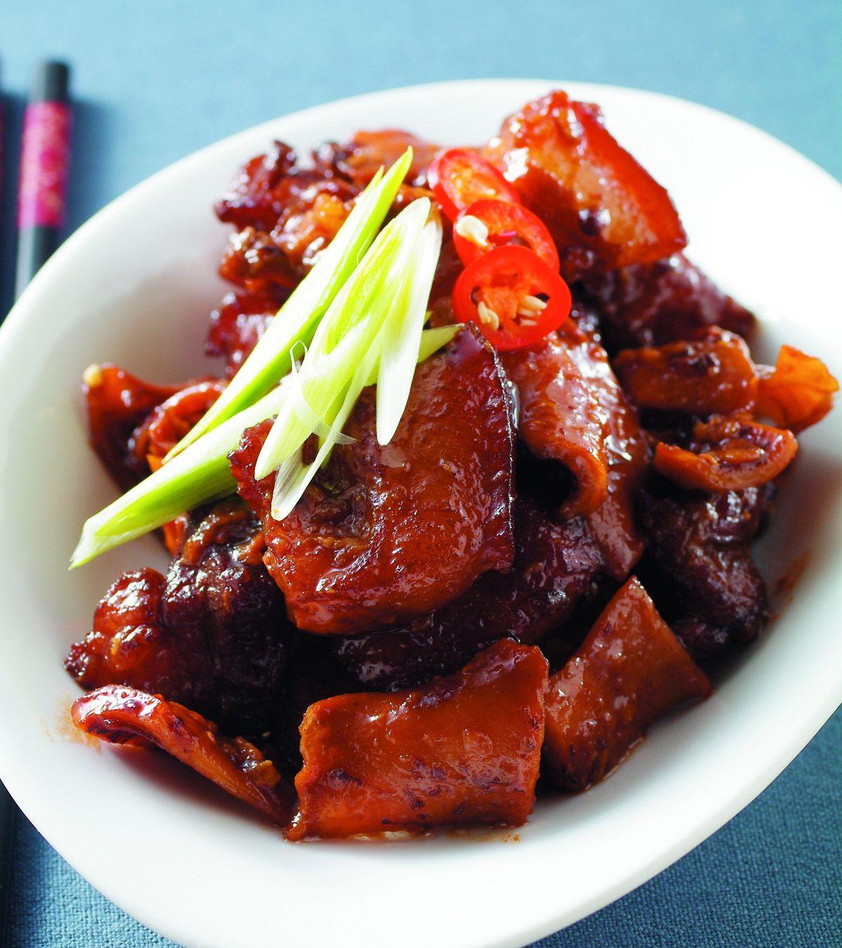 食譜:目魚乾燒肉