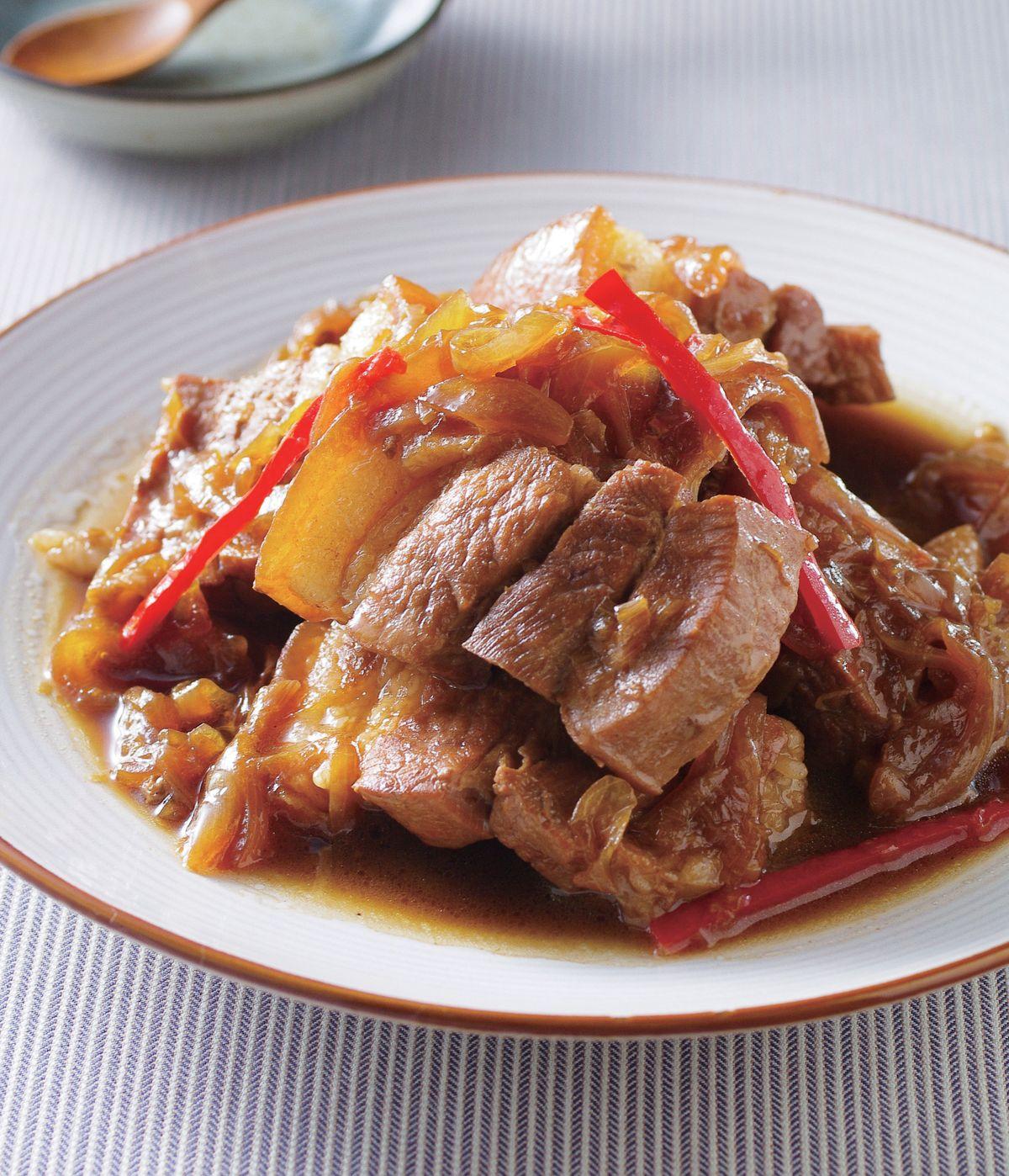 食譜:蔥燒肉