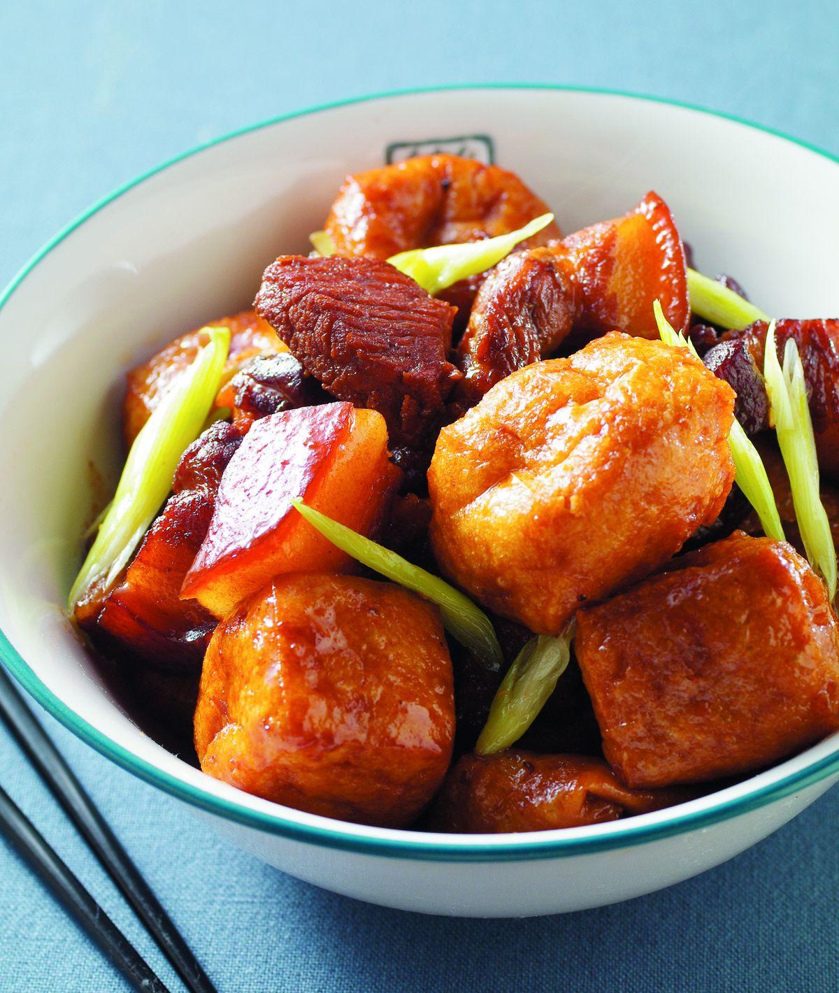 食譜:油豆腐燒肉(2)