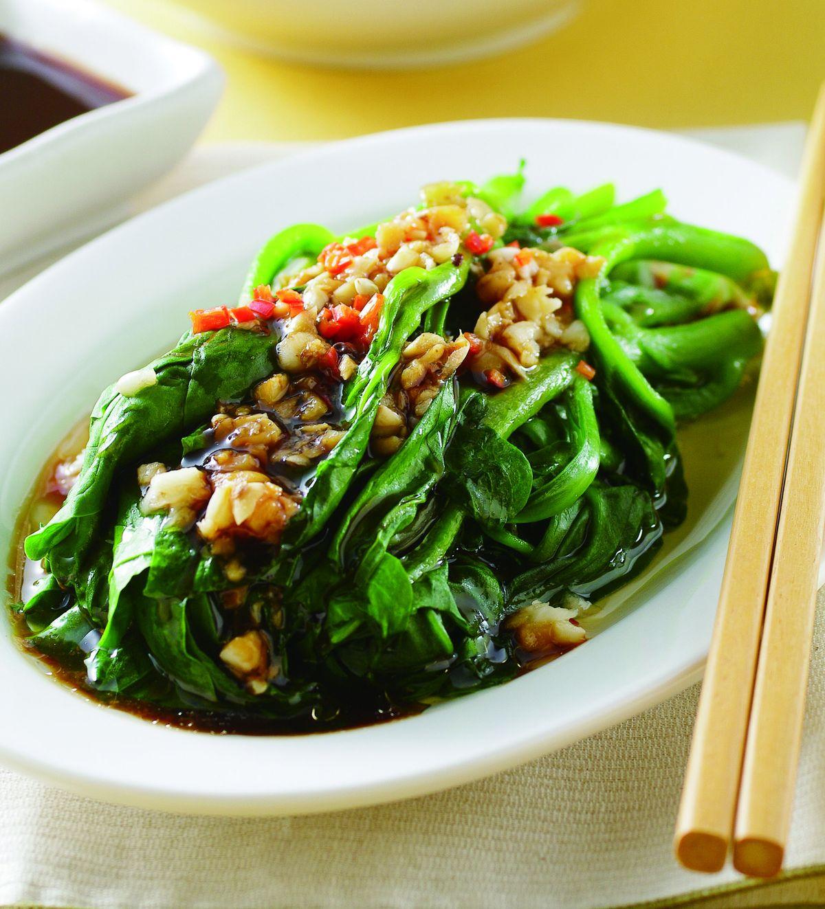 食譜:蠔油芥蘭(4)